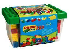 Unico Vödrös kocka készlet Építőjáték, 250 db