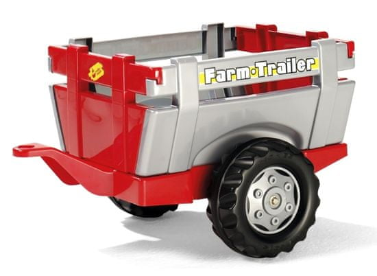"Rolly Toys Vlečka za traktor 1osá ""Farm Trailer""- stříbročervená"