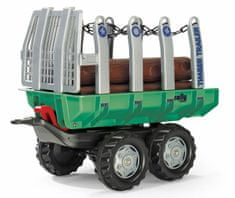 Rolly Toys prikolica s hlodi Timber Trailer, zeleno/siva