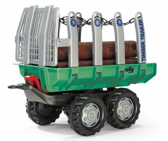 """Rolly Toys Vlečka s kládami """"Timber Trailer"""" 2-osá-zelená"""