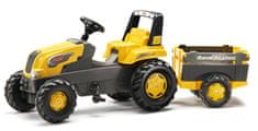 Rolly Toys Šliapací traktor Rolly Junior s Farm vlečkou - žltý