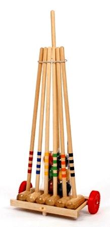 Londero Kroket 6 hráčů dřevěný vozík