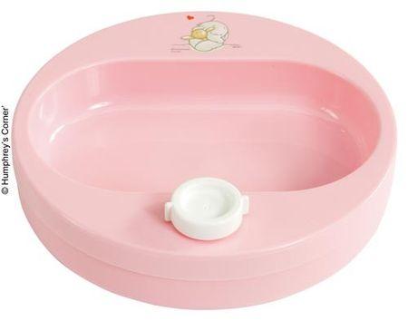 Bebe-jou Ohřívací talíř Humphrey - Růžový