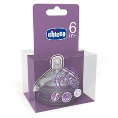 Chicco Step Up Dudlík silikon-3 otvory, 6+, 2ks