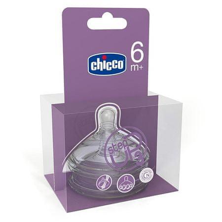 Chicco Step Up Dudlík silikón-3 otvory, 6+, 2ks