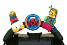 K´s Kids 3 veselé hračky na prichytenie suchým zipsom - telefón, volant, stonožka