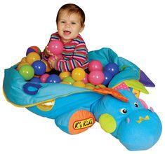 K´s Kids Jestem Szefem Niebieski Dinozaur + 60 Kolorowych Kulek 10445