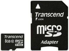 Transcend pomnilniška kartica micro SDHC 8GB C10