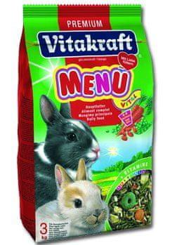 Vitakraft karma dla królików Menu Vital 3 kg