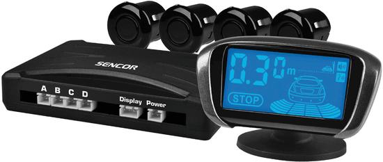 SENCOR SCA PARK200 Parkolóradar (4 db ultrahangos érzékelő, LCD kijelző, Minden autótípussal kompatibilis)