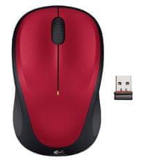 Logitech miš M235, crveni