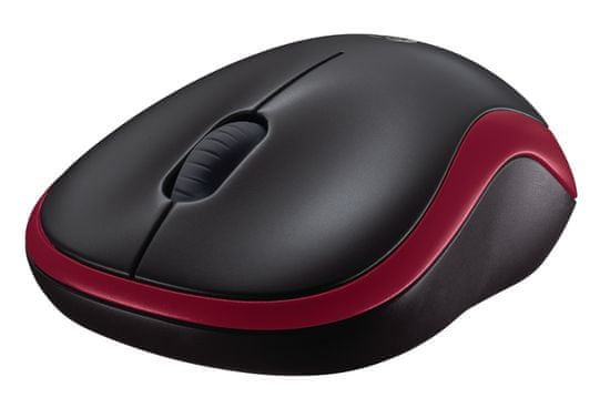 Logitech M185 brezžična miška, rdeča