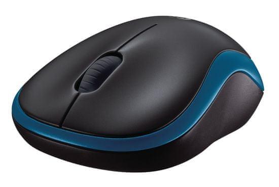 Logitech M185 brezžična miška, modra