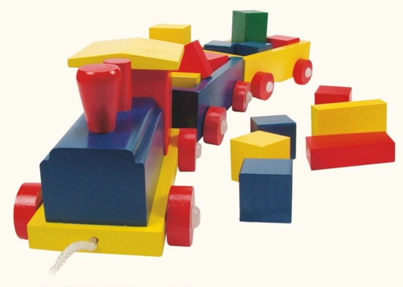 Woody Vlak barevný - 2 vagony