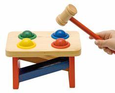 Woody Kalapácsos játék színes golyókkal