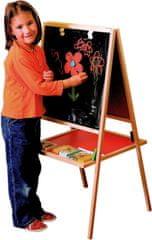 Woody tabla z natur okvirjem in poličko