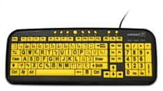 Connect IT CI-44 kontrastná klávesnica pre seniorov/deti, USB