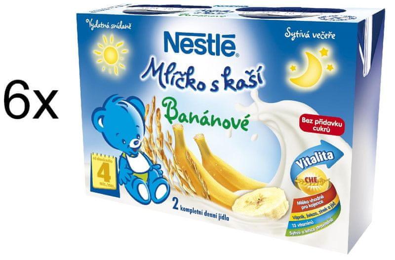 Nestlé Mlíčko s kaší banánové - 6 x (2x200ml)