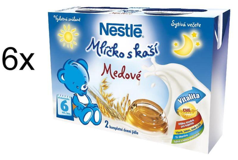 Nestlé Mlíčko s kaší medové - 6 x (2x200ml)