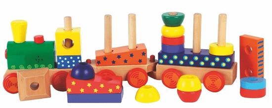 Woody Skladací vlak s potlačou, svetlom a zvukom