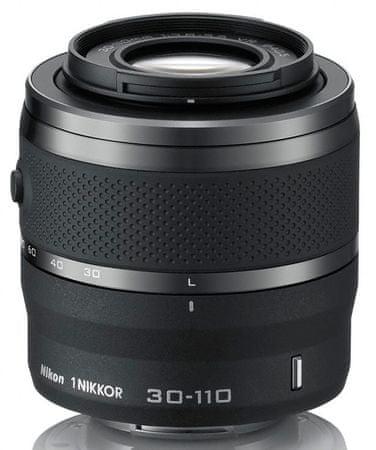 Nikon objektiv 1 Nikkor VR 30-110mm f/3,8-5,6, črn