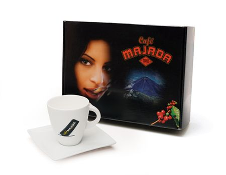 Café Majada Dárkové balení kávy Los Ausoles Achocolatado s hrníčkem