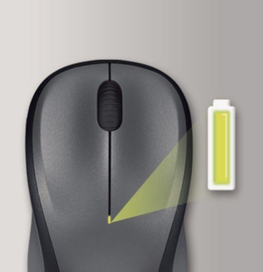Logitech M235 brezžična miška, siva