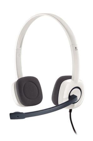 Logitech Stereo Headset H150 Fejhallgató, Fehér