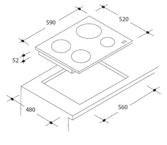 Candy indukcijska kuhalna plošča CI 640C
