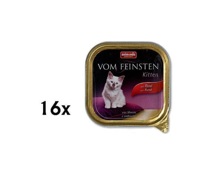 Animonda Vom Feinsten cat junior hovězí 14 + 2 Zdarma