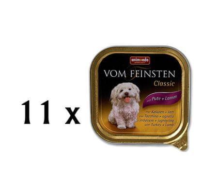 Animonda Vom Feinstein Kutyakonzerv, pulyka és bárány, 11 x 150 g