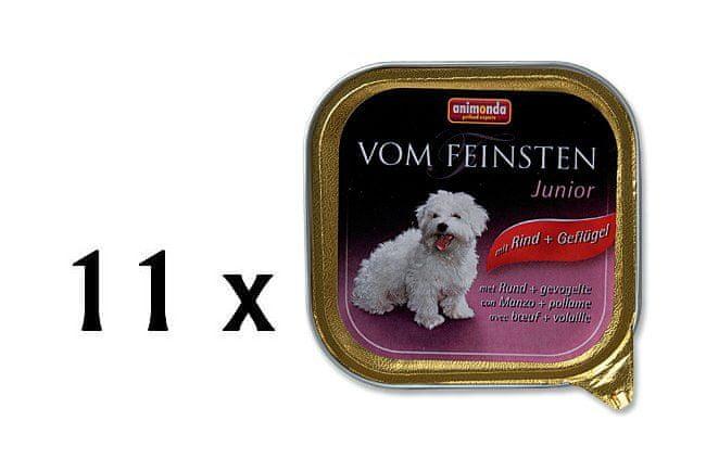 Animonda Vom Feinsten junior hovězí + kuře 11x150g