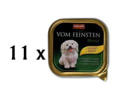 Animonda mokra karma dla psa Vom Feinstein Menue - drób + makaron - 11x150g