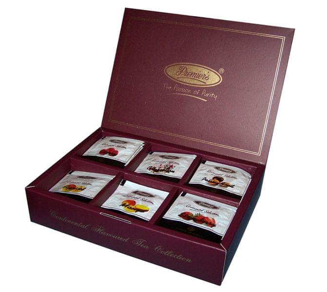 Premier´s Dárkové balení ochucených černých čajů 6 x 10 sáčků