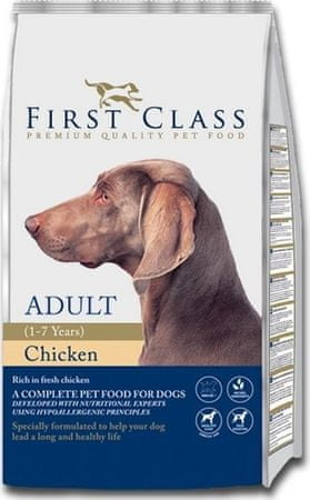 First Class Dog Adult Chicken kutyatáp - 12kg