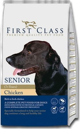 First Class Dog Senior Chicken hrana za pse, 12 kg