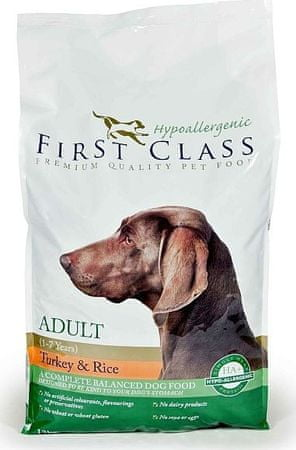 First Class Dog HA Adult Turkey & Rice 12kg