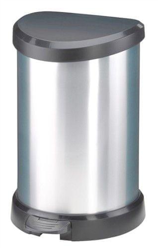 Curver Odpadkový koš Curver Decobin 20l pedál, stříbrný - II. jakost