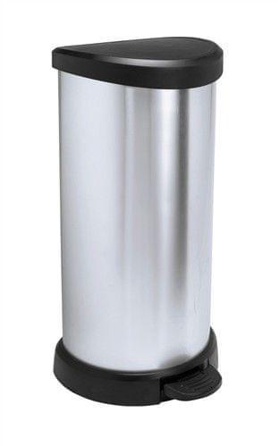 Curver Odpadkový koš Curver Decobin pedal 40l - stříbrný