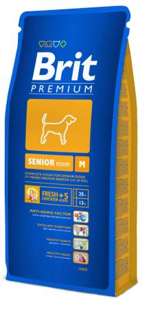 Brit hrana za starejše pse Premium Dog M, 15 kg