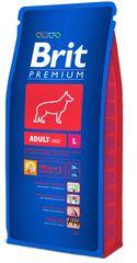 Brit Premium Adult Large Kutyaeledel, 15 kg