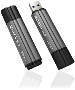A-Data USB ključ S102 Pro USB 3.0, 16 GB, titanium siv