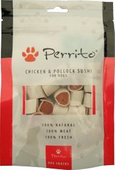 PERRITO Chicken and Pollock Sushi jutalomfalat, 10 x 100 g