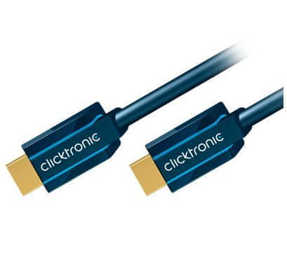 ClickTronic HQ OFC Kabel HDMI-HDMI with ethernet, 1.4b, 5m, M/M