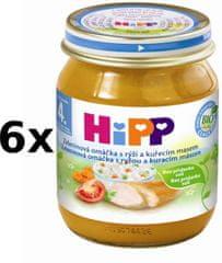 HiPP Zeleninová omáčka s rýží a kuřetem- 6x125g