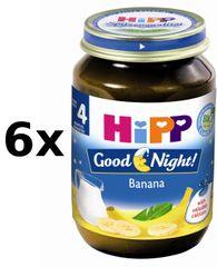 HiPP BIO Kaše na dobrou noc banánová - 6x190g
