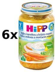 HiPP Ryža s karotkou a morčacím mäsom - 6x220g