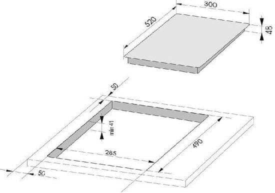 Amica steklokeramična plošča PH 3200 PG