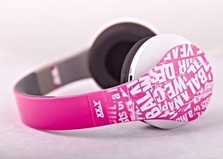 Arkas brezžične slušalke Dynamic 10 SD/FM, roza