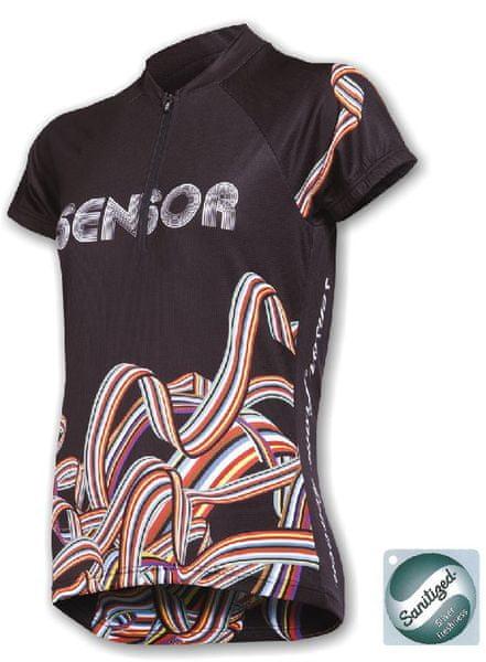 Sensor Rainbow dres k.r.dámský černá M